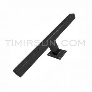 Ручка дверная черная для калитки, ворот, офисной двери